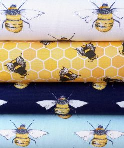 Bee fabrics by the meter.