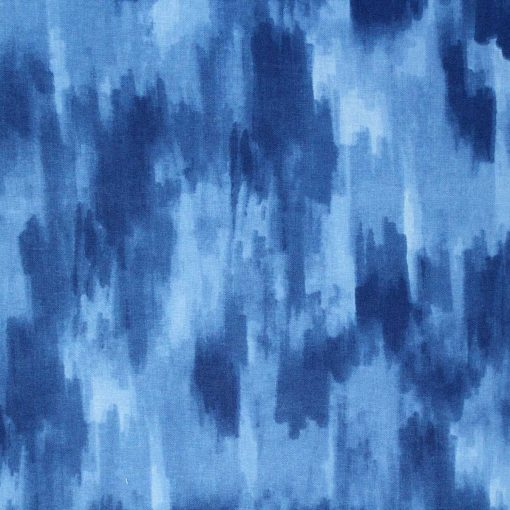 Dappled blue fabric.