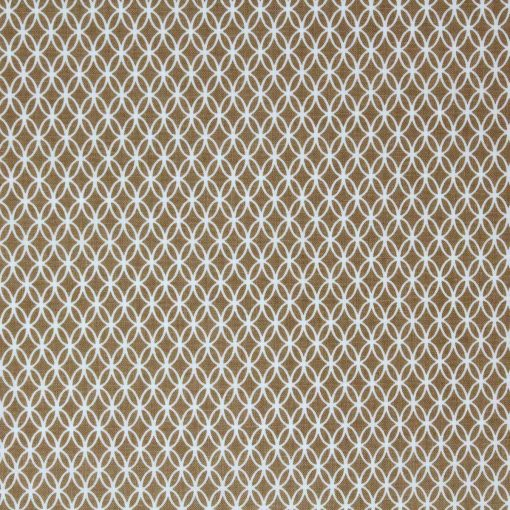 michael miller fabric in camel with a lace pattern.