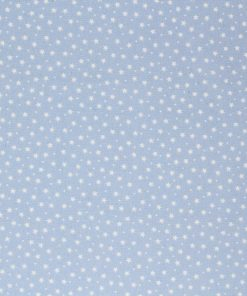 White miniature stars on a pale blue background.