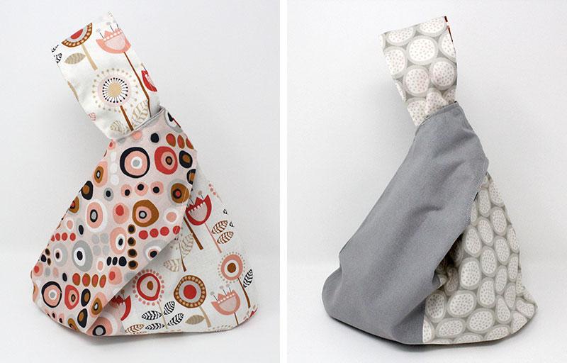 reversed japanese knot bag