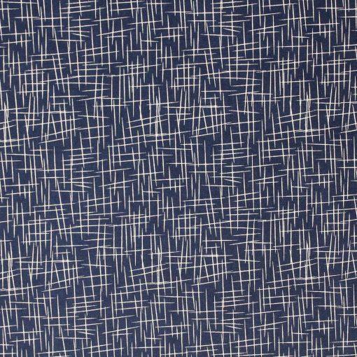 Crosshatch fabric in navy blue by Riley Blake.