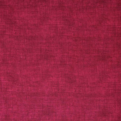 Claret red fabric with a linen texture design.