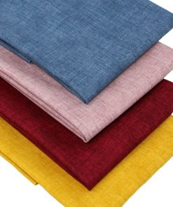 Fat quarter fabrics in deep rich colours with a linen texture.