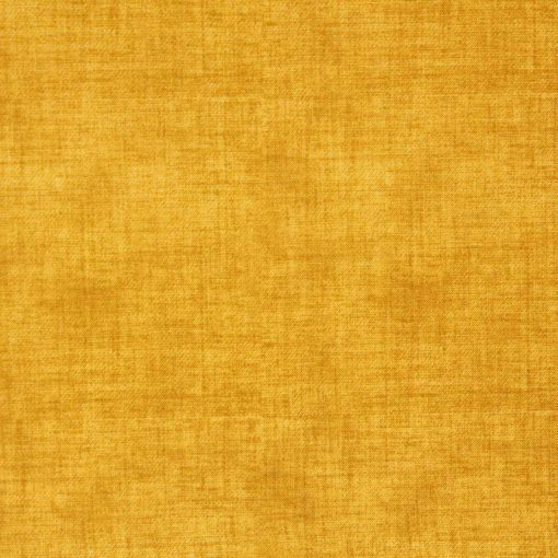Golden ochre fabric with a linen texture design.