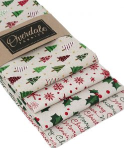 Christmas fat quarter pack in red and green.