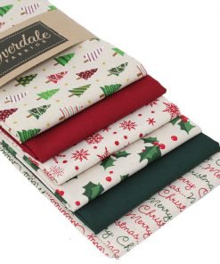 Festive fabric pack featuring Christmas fabrics in red and green.