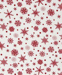 Christmas snowflake fabric.