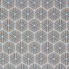 Light blue and ochre hexagon fabric.