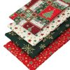 Christmas fabrics in red and green.