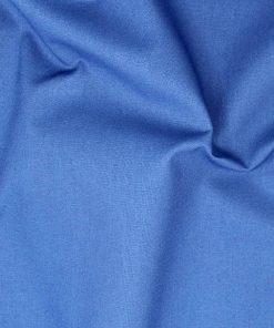 Cophen blue plain solid fabric.