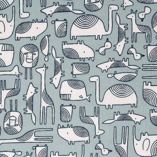 Blue animal fabric.
