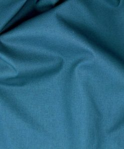 Teal solid plain fabric.