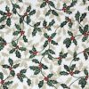 Holly fabric on a cream background.