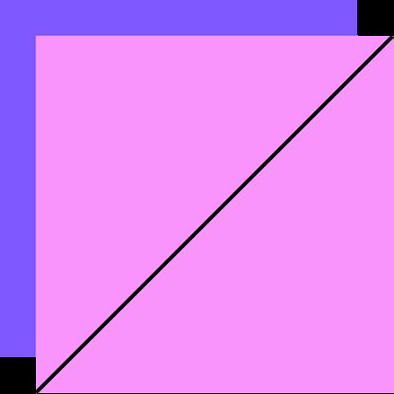 cut line shown on half square triangle