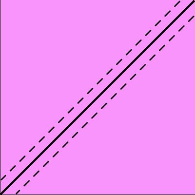 sew lines on half square triangle
