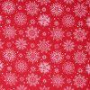 Christmas red snowflake fabric.