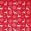 Red Scandi reindeer fabric.