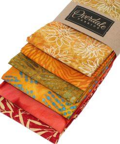 Batik fat quarter bundle in shades of orange.