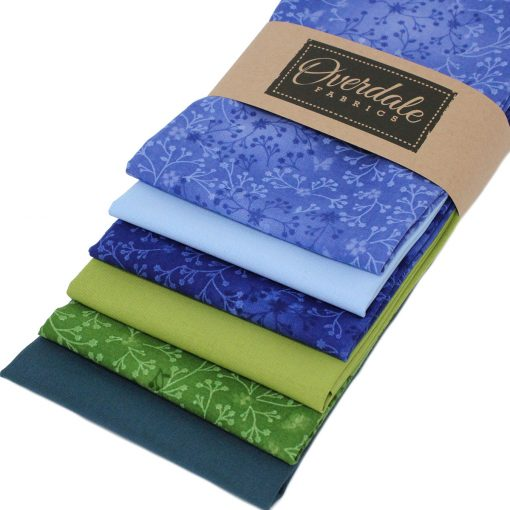 Green and blue fat quarter pack.