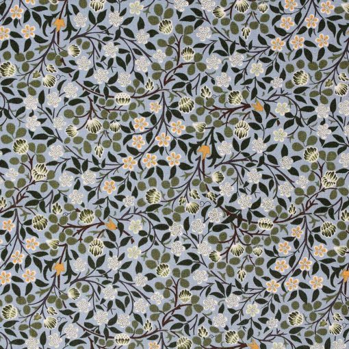 William Morris fabric in blue and green.